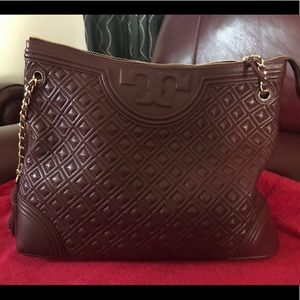 Tory Burch Quilted Fleming Tote 👜